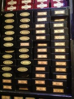 Harry Potter Studio Tour London credits wand boxes names JK Rowling image