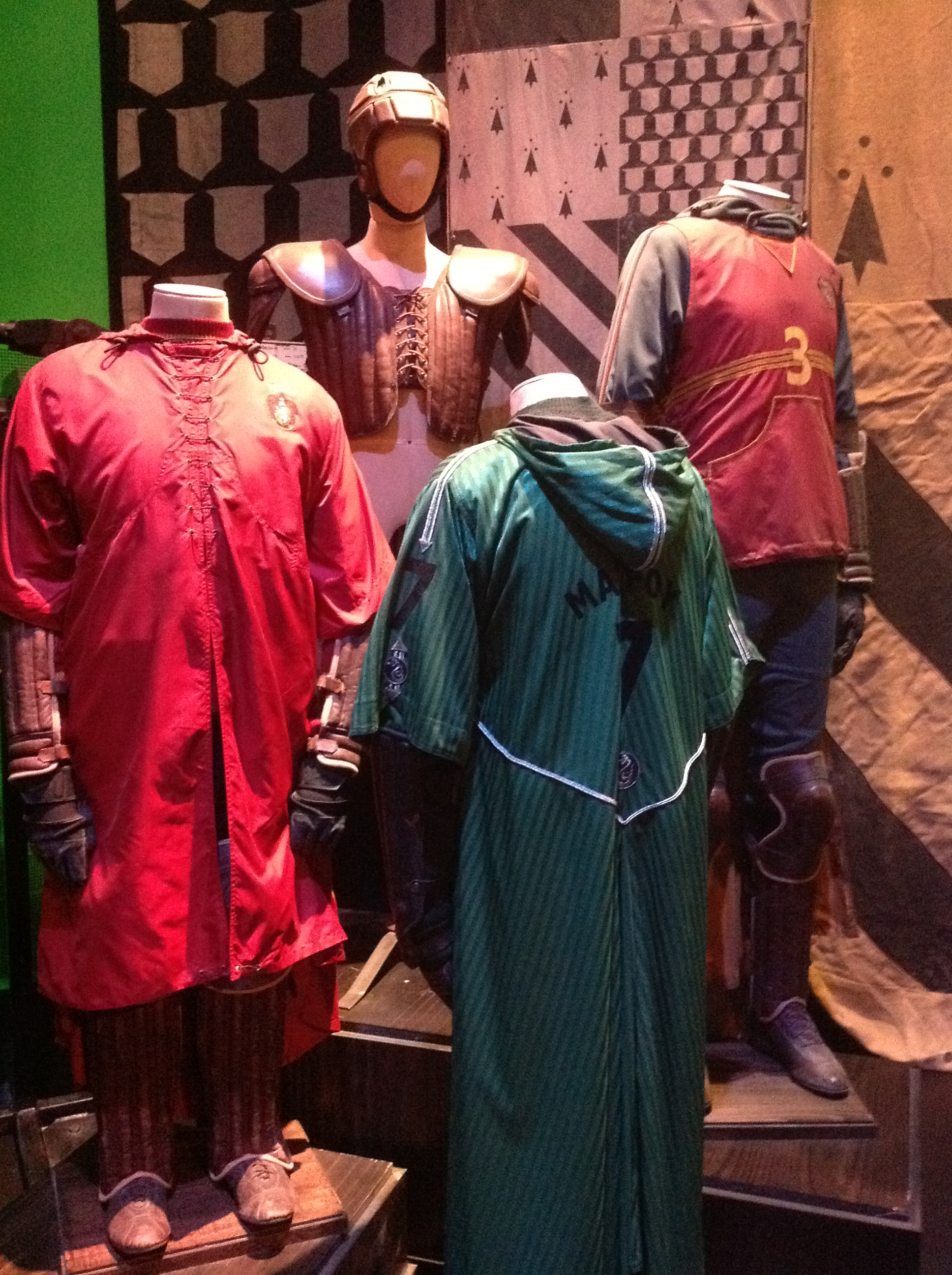 Harry Potter Studio Tour London Costumes Quidditch Robes The Adventure Is Afoot