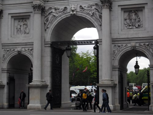 Not the Grand Entrance, but rather the Marble Arch (near Speakers' Corner)