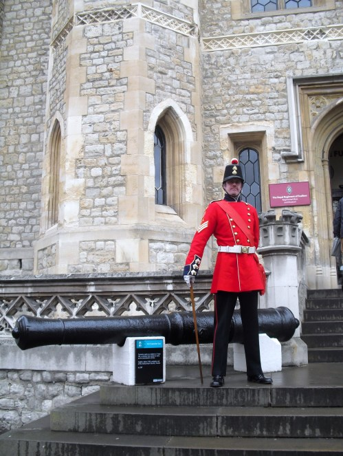 Standing guard at the entrance to the Fusiliers Museum