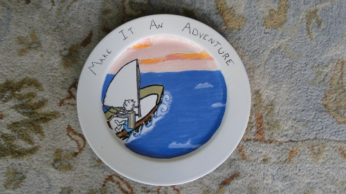 My brother's plate (he has the best stories from his adventures)