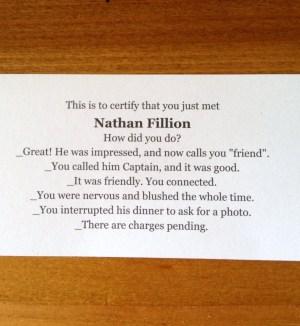 Nathan Fillion's autograph image