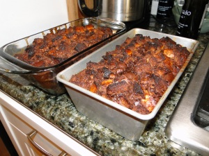 chocolate bread pudding recipe image