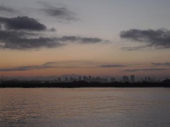 san diego skyline bay sunrise image