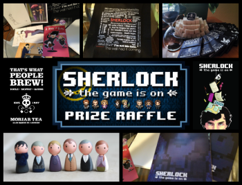 Sherlock the Game is On Seattle convention swag image