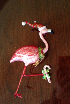 And the Christmas flamingo which would make any tree 10x happier