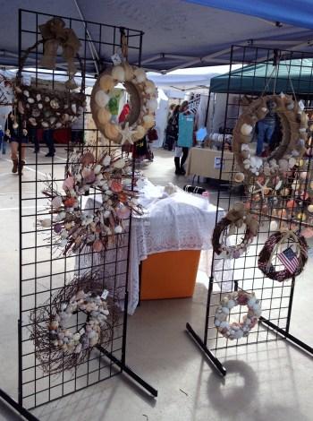 Beach wreaths artisans-alley-san-diego-2013-holiday-market7