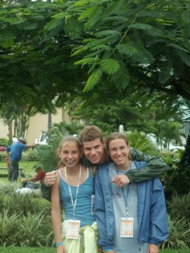 Costa Rica trip - bro, sis, and me