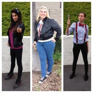 TheNerdyGirlie, Lauren_Gallaway, Brookenado WonderCon Doctor Who group cosplay