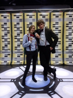Wondercon 2014 cosplay Doctor Who Eleven x2 brookenado