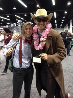 Wondercon 2014 cosplay Doctor Who Ten, Eleven brookenado