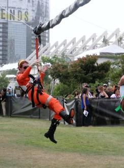 SDCC Comic-Con 2014 Star Wars Rebel pilot cosplay zipline