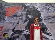 SDCC Comic-Con 2014 Godzilla graffiti
