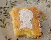 Rosemary lemon bar with bbc sherlock powder sugar silhouette