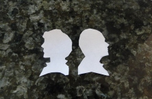 BBC sherlock holmes & john watson cutout silhouettes