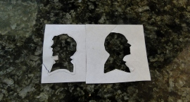 BBC sherlock holmes & john watson paper silhouettes