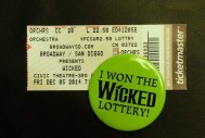 Affordable orchestra row seat to Wicked makes for a happy Brooke indeed!