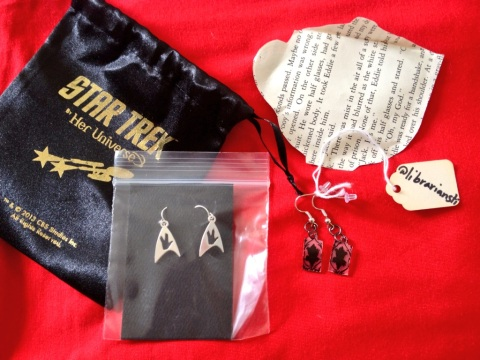 Fandom earrings - Sherlock 221B earrings by @librianisti & @heruniverse Star Trek earrings