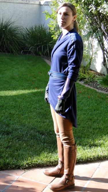 brookenado Jedi cosplay - blue kotor style robes