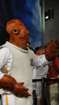 Star Wars Celebration Anaheim 2015 Admiral Ackbar cosplay, 'it's a trap!'