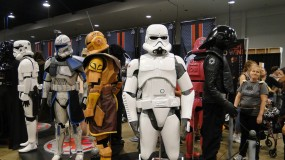 Star Wars Celebration Anaheim 2015 Stormtrooper and Clonetrooper costume replicas