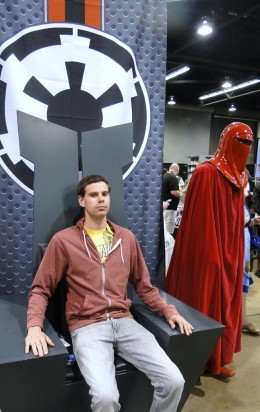 Star Wars Celebration Anaheim 2015 Emperor's throne and Royal Guard/Red Guard