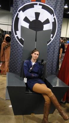 Star Wars Celebration Anaheim 2015 brookenado Imperial throne pic