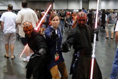 Star Wars Celebration Anaheim 2015 Darth Maul duo and brookenado Jedi cosplay photo