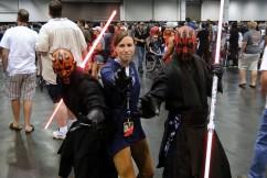 Star Wars Celebration Anaheim 2015 Darth Maul duo and brookenado Jedi cosplay photo