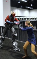Star Wars Celebration Anaheim 2015 cyborg Darth Maul and brookenado Jedi cosplay