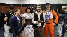 Star Wars Celebration Anaheim 2015 Han and Leia steampunk cosplay