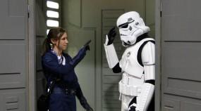 Star Wars Celebration Anaheim 2015 brookenado jedi cosplay, stormtrooper mind trick
