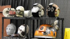 Star Wars Celebration Anaheim 2015 helmets and droid props