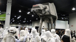 Star Wars Celebration Anaheim 2015 AT-AT plus Hoth Snowtroopers