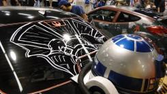 Star Wars Celebration Anaheim 2015 themed car, Millenium Falcon hyperspace R2D2