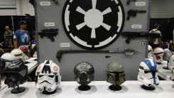 Star Wars Celebration Anaheim 2015 helmet and weapons props