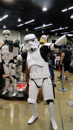 Star Wars Celebration Anaheim 2015 Stormtrooper cosplayer pose