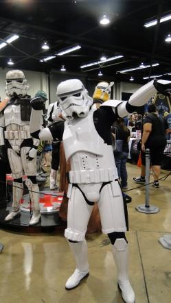 Star Wars Celebration Anaheim 2015 Stormtrooper cosplayer pose