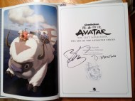 Avatar The Art of the Animated Series signed book