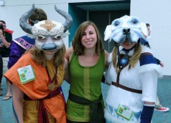 LoK Korra, Appa, and Naga group cosplay