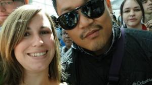 Awkward close-up selfie of me and Dante Bosco!