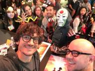Avatar/Korra group cosplay squad selfie with Mike and Bryan