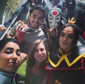 SDCC Squad selfie - Avatar/Korra group cosplay