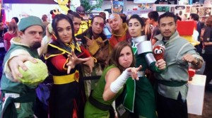 Avatar/Korra group cosplay squad with cabbage bending