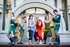 Nerd Con Avatar and Legend of Korra cosplay group photo (taken by Joits Photography)