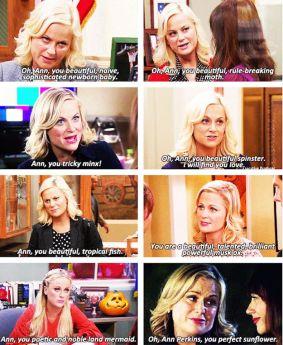 Parks and Rec - Leslie's Ann compliments