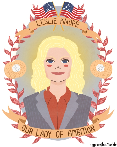 Leslie Knope, Our Lady of Ambition fanart by theblamelessflame on deviantART